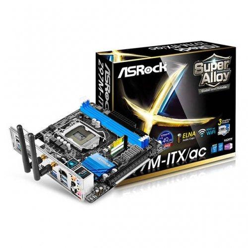 ASROCK ASRock Z97M-ITXAC LGA1150 Intel Z97 DDR3 SATA3&USB3.0 WiFi A&GbE Mini-ITX Motherboard / Z97M-ITX/AC /