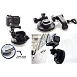 SublimeWare® - Suction Cup for Gopro Mount Car Windshield Window Vehicle Boat Camera Holder For Gopro Suction Cup Mount gopro windshield mount Hero2 Hero3 Hero3+ Hero4 Hero5 Hero6 Black Session HD