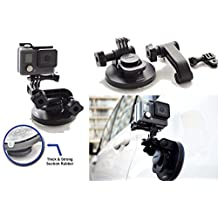 SublimeWare® - Suction Cup for Gopro Mount Car Windshield Window Vehicle Boat Camera Holder For Gopro Suction Cup Mount gopro windshield mount Hero2 Hero3 Hero3+ Hero4 Hero5 Black Session HD SJCAM