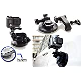 SublimeWare - Suction Cup for Gopro Mount Car Windshield Window Vehicle Boat Camera Holder For Gopro Suction Cup Mount gopro windshield mount Hero2 Hero3 Hero3+ Hero4 Hero5 Hero6 Black Session HD