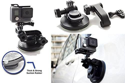 Suction Cup for Gopro Mount Car Windshield Window Vehicle Boat Camera Holder for Gopro Suction Cup Mount gopro Windshield Mount Hero2 Hero3 Hero3+ Hero4 Hero5 Hero6 Black Session HD by SublimeWare