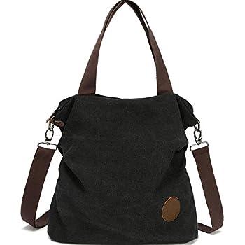 Amazon.com  Women Canvas Shoulder Bag Casual Tote Bag ff23454eaffc9