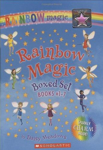 Rainbow Magic Boxed Set, Books #1-7: (Plus sparkly charm)