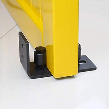 TiooDre Rodillo de Guía de Suelo, 1 Pieza Puerta Corredera Inferior en Acero al Carbono Tornillos Rieles para Pistas de Puerta de Granero | Negro: Amazon.es: Bricolaje y herramientas