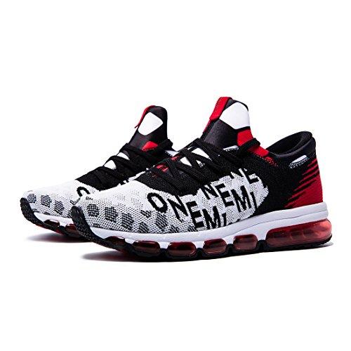 Coussin de Sport Chaussures d'Air Homme Red White Tricoter Onemix Black qPHCxSwq