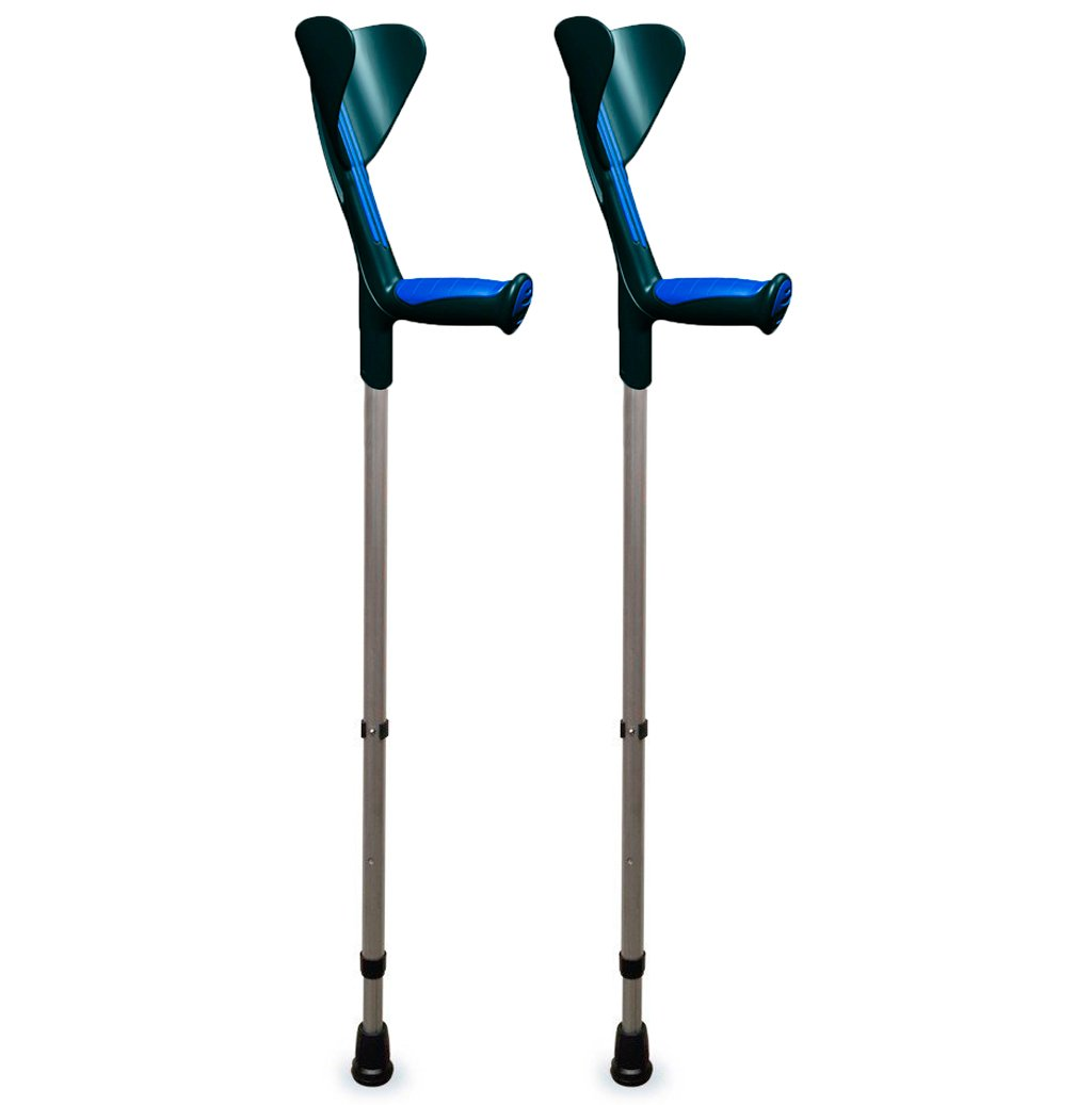 ORTONYX Forearm Crutches 1 Pair - Ergonomic Handle with Comfy Grip - High Density Sturdy Aluminum - 308lb Max / 200913 by ORTONYX