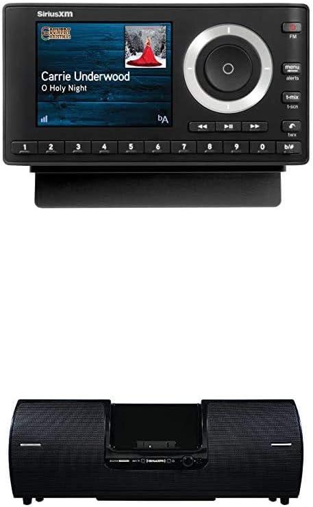 SiriusXM SXPL1V1 Onyx Plus Satellite Radio with Vehicle Kit + Boombox (SXSD2), Receive 3 Months Free Service with Subscription – Enjoy SiriusXM Through Your Car's in-Dash Audio System