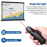 BEBONCOOL Wireless Presenter Remote with Red Laser
