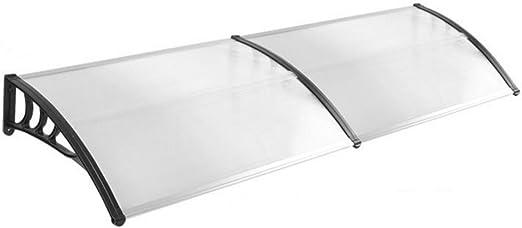 HENGMEI 100x120cm Marquesina protectora Ventanas Toldo Policarbonato Tejadillo de protecci/ón para Puerta Marco gris