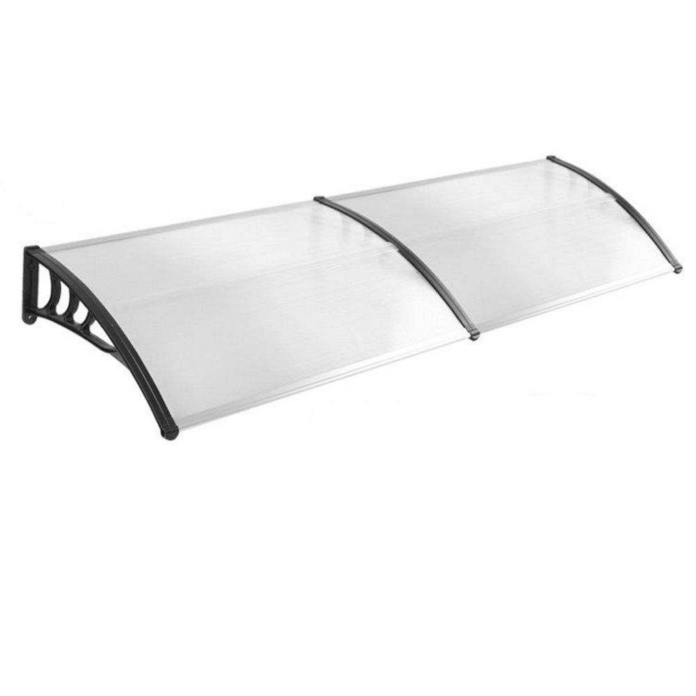 Transparent Kunststoff HENGMEI 76x120cm Vordach Haust/ür /Überdachung Haust/ürvordach Pultvordach T/ürdach Regenschutz Grau