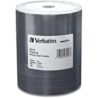 Verbatim 700MB 52x DataLifePlus White Thermal Hub Printable Recordable Disc CD-R, 100-Disc Tape Wrap 97018