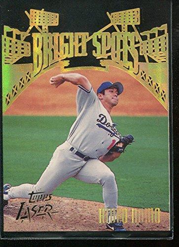 1996 Topps Laser Bright Spots #15 Hideo Nomo Card - 1996 Topps Laser