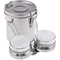 Small Artist Stainless Steel Brush Washer Double Dipper Container Cup Paint Brush Cleaner Washing Bucket with Lid fit…
