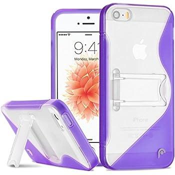 iPhone SE Case, Fosmon HYBO-SK Series Hybrid PC + TPU Case with KickStand for Apple iPhone SE / 5 / 5S - Purple