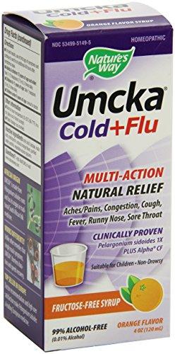 Cheap Umcka Cold & Flu Orange Syrup Nature's Way 4 oz Liquid