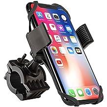 Bike Mount, Insten Bicycle Motorcycle MTB Bike Rack Handlebar Mount Phone Holder Cradle W/ Secure Grip For Apple iPhone X/8 Plus/7 Plus/6S Plus, Galaxy S9/S9+/S8/S8+/On5/S7 Edge/S7,LG V10, Black