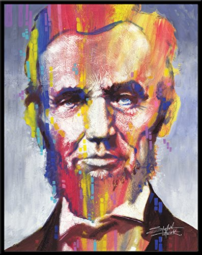 Abraham Icon Lincoln - Stephen Fishwick Abraham Lincoln Political Icon Celebrity President Postcard Poster Print, Framed 11x14