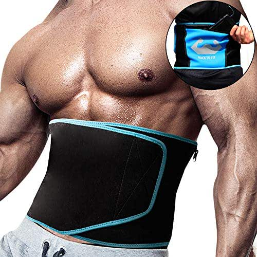 Back To Fit Waist Trimmer for Sweet Abs Sweat Your Fat and Discover Your Hidden Six-Pack Using This Fitness Belt Will Help You Burn More Fat Around Your Waist