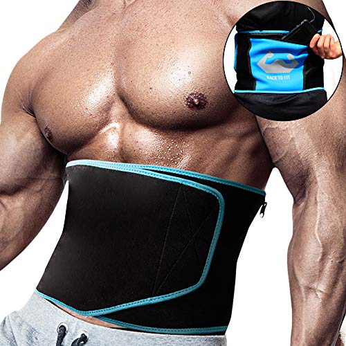 back To Fit Waist Trimmer for Sweet Abs, Sweat Your Fat and Discover Your Hidden Six-Pack Using This Fitness Belt Will Help You Burn More Fat Around Your Waist
