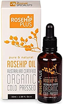 Rosehip Plus Oil Austrlian Certifed Organic Cold Pressed Pure Natural Rosehip Oil 1.01 Fl Oz 3 Pack