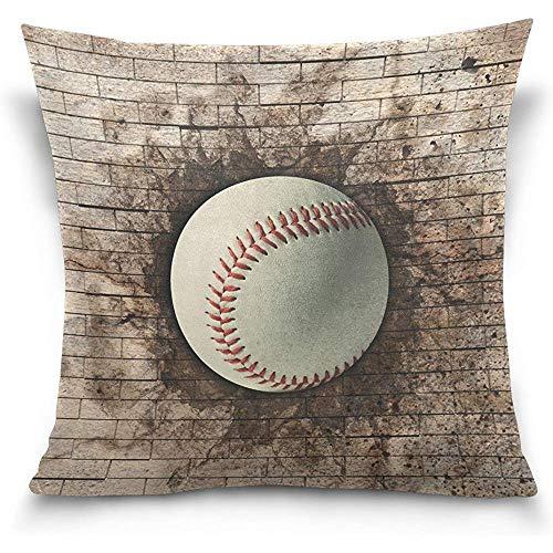 Starobkn Decorative Vintage 3D Baseball Sport Throw Pillow Case Cushion Cover Double Side Design 18