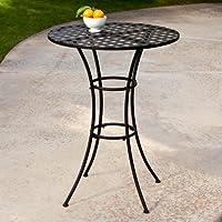 Woodard Capri Wrought Iron Bar Height Bistro Table by Woodard-CM LLC