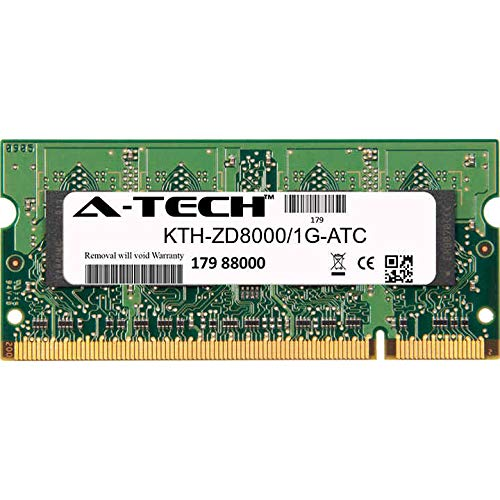 A-Tech 1GB Replacement for Kingston KTH-ZD8000/1G - DDR2 400MHz PC2-3200 Non ECC SO-DIMM 1.8v - Single Laptop & Notebook Memory Ram Stick - Sodimm Notebook Ddr2 3200 400