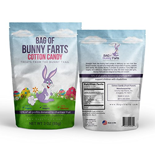 Bag of Bunny Farts (Cotton Candy) Funny For All Ages Unique Gag Gift for Friends, Mom, Dad, Birthday Girl, Boy