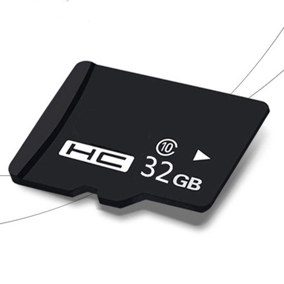 Memoria SD Tarjeta de memoria flash SDHC TF tarjeta Clase 10 con adaptador SD gratuito para smartphones Tablet PC negro 32 GB