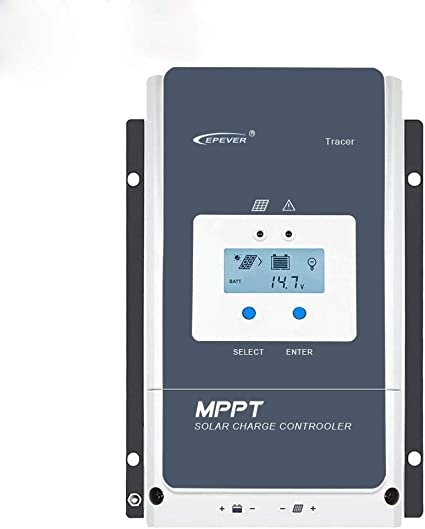 EPEVER 50A MPPT Solar Charge Controller 12//24//36//48VDC Automatically Identifying System Voltage with MT50 Remote Meter /& Temperature Sensor RTS /& Communication Cable RS485