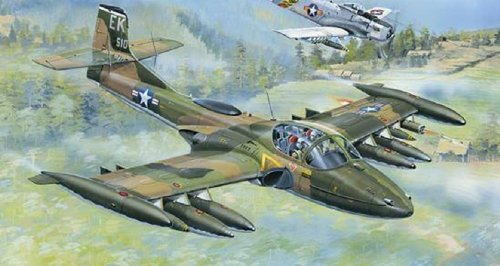 Trumpeter US A-37A Dragonfly Light Ground Attack Aircraft Model Kit (1/48 Scale)
