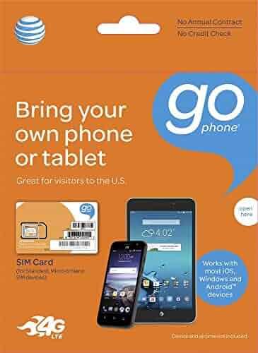 AT&T TRIPLE CUT GO PHONE 4G LTE SIM CARD
