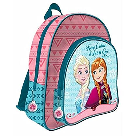 Amazon.com : Mochila Frozen Disney bolsillo 3D Adaptable 41cm : Office Products