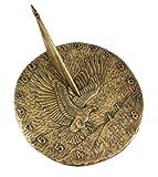 Bronze Finish Flying Eagle Sundial American Patriotic