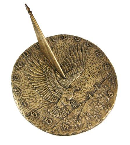 Bronze Finish Flying Eagle Sundial American Patriotic ()