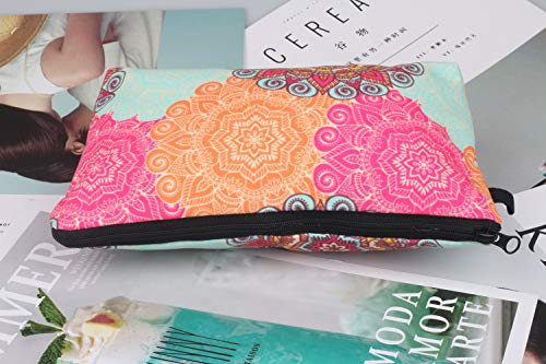 Cosmetic Bag for Women Waterproof Cute Fashion Purse Makeup Bag Roomy Travel Toiletry Pouch Girls Gifts (#6)