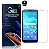 Huawei Y5 2018 Screen Protector, Bear Village® Tempered Glass Screen Protector [Lifetime Warranty], HD Screen Protector Glass for Huawei Y5 2018-2 PACK