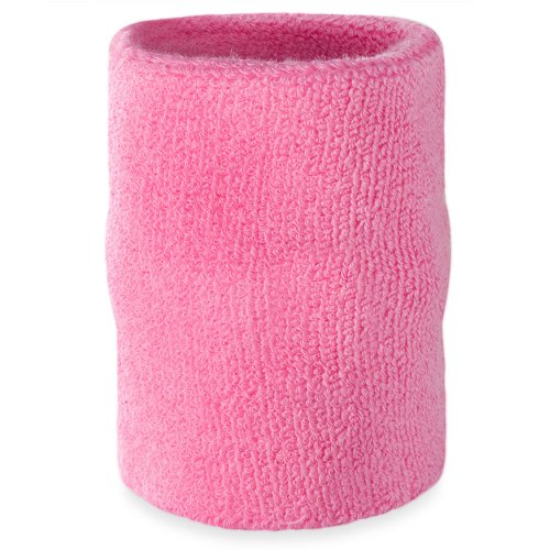 Suddora Arm Sweatband - Athletic Cotton Armband for Sports (Pink)