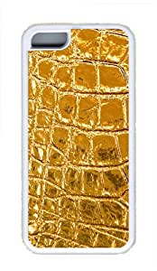 iPhone 5C Case Cover - Yellow Texture Cool TPU Case Cover Protector For iPhone 5C - White