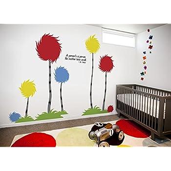 Dr Seuss Truffula Trees Assorted Set Vinyl Wall Decal Children - Dr seuss nursery wall decals