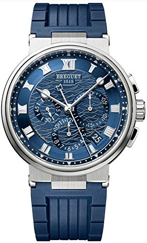 - Breguet Marine Chronograph White Gold Mens Watch 5527BB/Y2/5WV