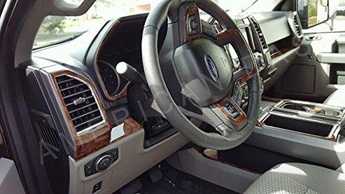Ford F-150 F150 F 150 Crew Extended CAB Interior BURL Wood Dash Trim KIT Set 2015 2016 2017 (Dashboard Wood)