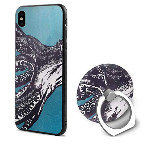 Octopus Mural iPhone X Case iPhone 10 Case Scratch Proof Suitable 5.8 Inches