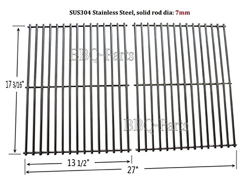 Hongso SCI812 stainless steel Rod Cooking Grid/Cooking Grates Replacement for Brinkmann, Grill Master, Nexgrill and Uniflame Gas Grills, Set of (Rod Grids)