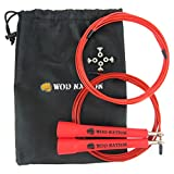 #9: WOD Nation Speed Jump Rope - Blazing Fast Jumping Ropes - Endurance Workout for Boxing, MMA, Martial Arts or Just Staying Fit + FREE Skipping Training Included - Adjustable for Men, Women and Children
