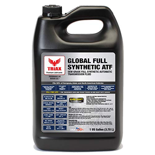Triax Global Synthetic ATF - OEM Grade for Honda DW-1, Allison TES 295, BMW, Audi, Mercedes Benz, VW, Honda DW1, Toyota, ATF +4, Ford Mercon V/LV, Dexron VI, Nissan, ZF 6HP (1 Gallon) (Best Atf For Honda)