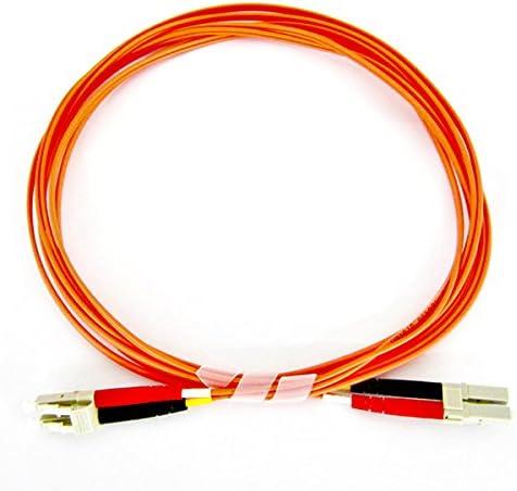 Multimode Duplex 50//125 3 Meter Fiber Optic Cable OFNP Plenum LC//LC