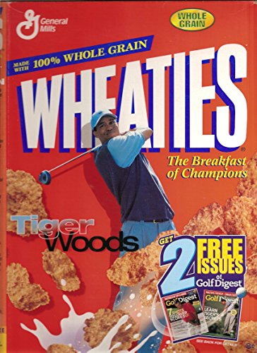 Wheaties 18 oz. cereal box - 2001 Tiger Woods - Golf (Tiger Woods Wheaties Box)