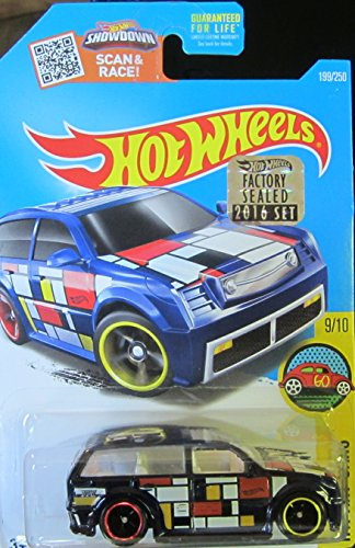 Hot Wheels 2016 H.W. Art Cars Boom Box Super Treasure Hunt & Factory Sealed Set Sticker Spectraflame Dark Blue 199/250 (Wheels Cars Hot Stickers)