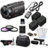Sony 4K HD Video Recording FDRAX33 Handycam Camcorder- Professional Bundle w/Accessories